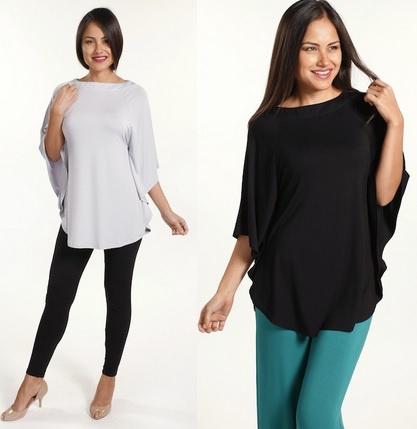 936ac36afa7523 Available in Black and White   Navy Stripe. Bamboo Cape Top